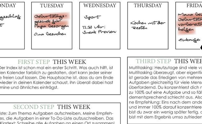 Eigenleben 2018: Weekly TO-DO-LIST